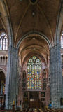 Church of Saint Walburga, Veurne, Belgium. Interior of church of Saint Walburga in Veurne, Belgium Royalty Free Stock Photo