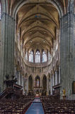 Church of Saint Walburga, Veurne, Belgium. Interior of church of Saint Walburga in Veurne, Belgium. The main nave Stock Photo