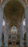 Church of Saint Walburga, Veurne, Belgium. Interior of church of Saint Walburga in Veurne, Belgium. Organ Stock Image