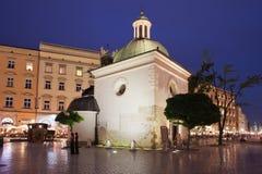 Church of Saint Wojciech in Krakow at Night Royalty Free Stock Photos