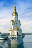 Church of Saint Wonderworker Nikolay on waters Stock Photos