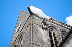 Church of Sainte-M�re-�glise Royalty Free Stock Image