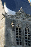 Church of Sainte mere Eglise in Normandie Stock Images