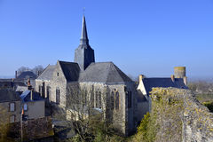 Church of Sainte-Suzanne in France Stock Photos