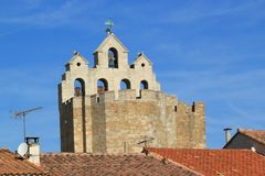Church of Saintes-Maries-de-la-mer, France Royalty Free Stock Photography
