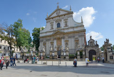 Church of Saints Apostles Peter and Paul in Krakow, Poland Stock Images