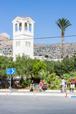 The Church of Saints Constantine and Helena in the coastal town Elounda Royalty Free Stock Photography