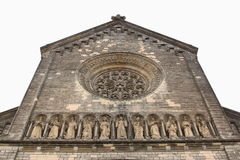 Church of Saints Cyril and Methodius. Detail architecture of Church of Saints Cyril and Methodius in Karlin District, Prague. One of the largest religious Stock Images