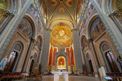 Landmark attraction in Prague. Interior of Catholic Church of Saints Cyril and Methodius - Czech Republic. Landmark attraction in Prague. Interior of Catholic Royalty Free Stock Photography