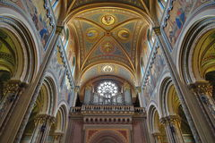 Landmark attraction in Prague: Interior of Catholic Church of Saints Cyril and Methodius - Czech Republic. Landmark attraction in Prague: Interior of Catholic Stock Photography