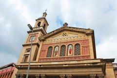 Church of Saints Gervasi and Protasi and The Virgin of Bonanova royalty free stock images