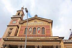 Church of Saints Gervasi and Protasi and The Virgin of Bonanova Stock Photo