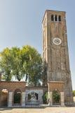 Church of Saints Mary and Donato on Murano island, Italy. Stock Photos