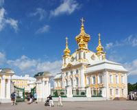 Church of Saints Peter and Paul in Peterhof, St. Petersburg, Russia Royalty Free Stock Image