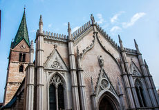 Church of Saints Peter and Paul in Trento. Italy. Outdoor detail of the Saints Peter and Paul church in Trento (Italy Royalty Free Stock Image