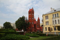 Church of Saints Simon and Helena in Minsk Stock Photography