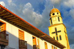 Church in Salento, Colombia Royalty Free Stock Photos