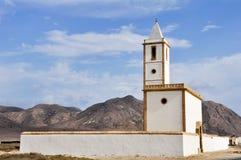 Church of Salinas at Gata cape, Almeria (Spain) Royalty Free Stock Image