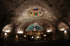 Church in salt mine Stock Images