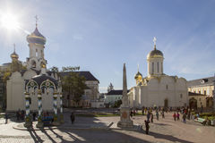 The church in sam sergei abbey,russian federation Royalty Free Stock Image
