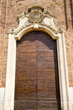 Church  samarate  varese   the old  entrance  mosaic Stock Image