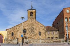 Church of San Bartolome in the historic center of Astorga Royalty Free Stock Images