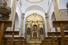 Church of San Bartolome at Jerez de los Caballeros, Spain royalty free stock images