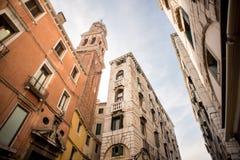 Church of San Bartolomeo di Rialto Saint Bartholomew in Venice. Italy Stock Photos