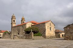 Church of San Benito, Fefinans square, Royalty Free Stock Photography