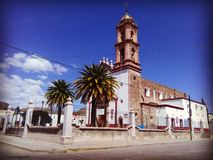 Church of San Blas, Aguascalientes, Mexico. Catholic church in the main square of the community of San Blas in Pabellón de Hidalgo Stock Image