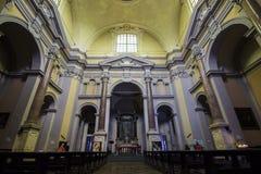 Arona, Italy. The Church of San Carlo Borromeo in the Sacro Monte di Arona, Italy Royalty Free Stock Photo