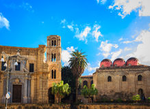 Church of San Cataldo and belltower of church Martorana , Palermo. Sicily. Stock Image