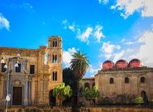 Church of San Cataldo and belltower of church Martorana , Palermo. Sicily. Stock Image