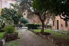 The church of San Cosimato in Rome Royalty Free Stock Image