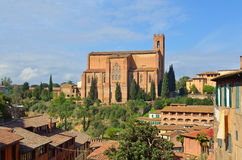 Church of San Domenica Siena Stock Image