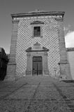Church of san domenico. Describes the image in black and white arab-style church of san domenico, to aidone in the province of enna in sicily,characteristic of Royalty Free Stock Photography