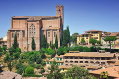 Church of San Domenico in Siena Royalty Free Stock Images