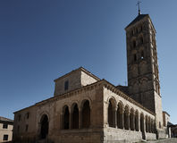 Church San Esteban Segovia Royalty Free Stock Photo