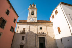 The church of San Felice in the center of Massa Martana Stock Photography