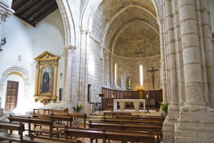 Church of San Felipe, built in the S. XIII transitional Romanesq Royalty Free Stock Photo