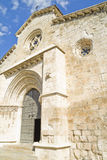 Church of San Felipe, built in the S. XIII transitional Romanesq Royalty Free Stock Images