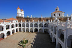 Church of San Felipe Neri, Sucre, Bolivia. The nice white church of San Felipe Neri, Sucre, Bolivia royalty free stock images