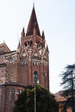 Church san fermo maggiore in Verona city Royalty Free Stock Images