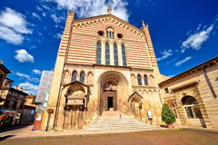 Church of the San Fermo Maggiore in Verona Royalty Free Stock Images