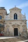 Church of San Francesco de Asisi next to the City Hall in Ostuni Stock Image