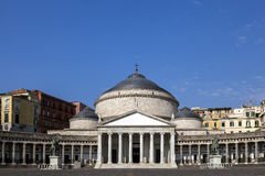 Church of San Francesco di Paola in Naples, Italy Stock Photos