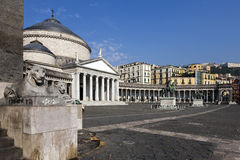 Church of San Francesco di Paola in Naples, Italy Stock Images