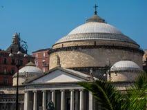 Church of San Francesco di Paola, Naples, Italy Stock Images