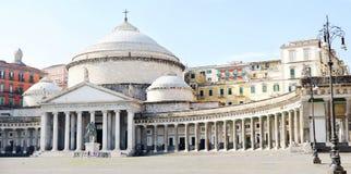 Church San Francesco di Paola, Naples. Church of San Francesco di Paola, Piazza Plebiscito, Naples, Italy Stock Photos