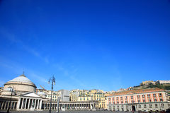 Church of San Francesco di Paola of Piazza del Plebiscito. Famous sight seeing destination in Naples Italy Royalty Free Stock Image